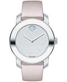 Women's Swiss BOLD Blush Leather Strap Watch 36mm