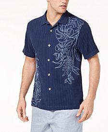 Tommy Bahama Men's Playa Palms Embroidered Floral Silk Camp Shirt