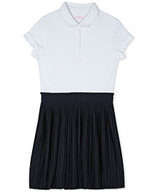 Nautica Big Girls Layered-Look Polo Shirt Dress