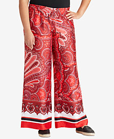 Lauren Ralph Lauren Plus Size Paisley-Print Wide-Leg Pants