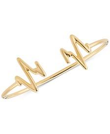 Sarah Chloe Heartbeat Bangle Cuff Bracelet