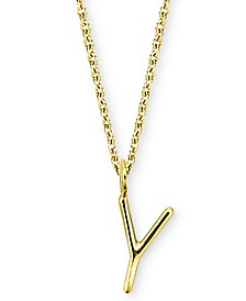 """Amelia Initial 16"""" Pendant Necklace in 14K Gold"""