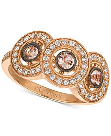 Le Vian® Peach Morganite™ (1/4 ct. t.w.) & Diamond (1/3 ct. t.w.) Ring  in 14k Rose Gold