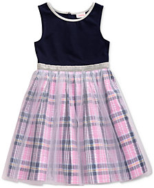 Sweet Heart Rose Little Girls Glitter Mesh Dress
