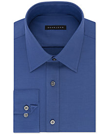 Sean John Men's Classic/Regular Fit Solid Blue Dress Shirt