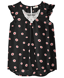 Monteau Big Girls Floral-Print Top