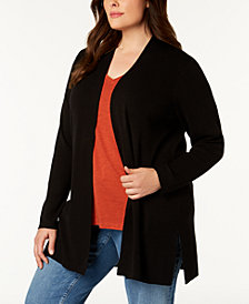 Eileen Fisher Plus Size Wool Cardigan