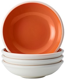 Rachael Ray Rise Orange Set of 4 Fruit Bowls