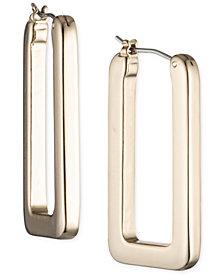 Lauren Ralph Lauren Geometric Link Hoop Earrings