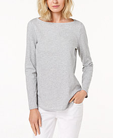 Eileen Fisher Organic Cotton Boat-Neck T-Shirt
