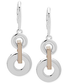 Lauren Ralph Lauren Two-Tone Link Double Drop Earrings