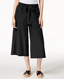 Eileen Fisher Washable Crepe Wide-Leg Capri Pants, Regular & Petite
