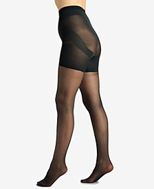 Women's  Shaping Firm All The Way Butt Booster Tummy Control Top Pantyhose 5051