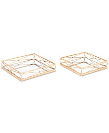 Zuo Twisted Gold Trays, Set of 2