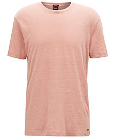 BOSS Men's Regular/Classic-Fit Linen T-Shirt