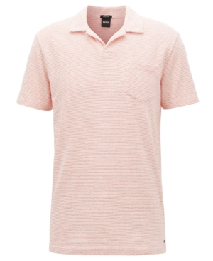 Boss Men's Regular/Classic-Fit Fine-Striped Cotton Polo Shirt