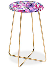 Deny Designs Elena Blanco Pink Counter Stool