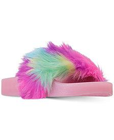 Steve Madden Little Girls' SoftLite Light-Up Slide Sandals from Finish Line