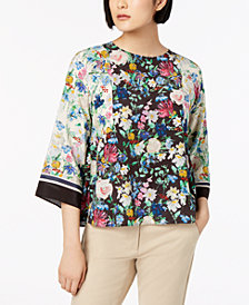 Weekend Max Mara Verbas Silk Printed Top