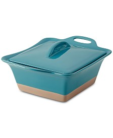 Rachael Ray Collection Stoneware 2.5-Qt. Square Casserole & Lid
