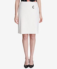 Calvin Klein Grommet-Detail Pencil Skirt