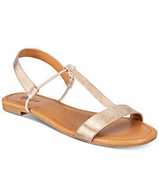 Style & Co Kristee T-Strap Flat Sandals, Created for Macy's