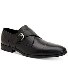 Calvin Klein Men's Lucus Dress Leather Monk Strap Loafer