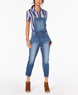 Dollhouse Juniors Cropped Denim Overalls Jeans Juniors Macy S