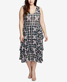 RACHEL Rachel Roy Trendy Plus Size Ruffled Dress