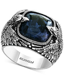 EFFY® Men's Pietersite Double Eagle Ring in Sterling Silver