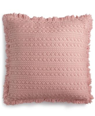 """Sakai Handcrafted Embroidered 22"""" Square Decorative Pillow, Created for Macy's"""