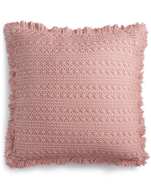 """Lacourte Sakai Handcrafted Embroidered 22"""" Square Decorative Pillow, Created for Macy's"""
