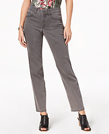 Style & Co Petite Straight-Leg Ankle Jeans, Created for Macy's