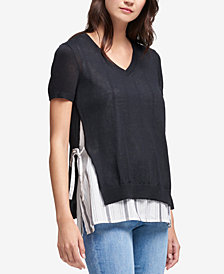 DKNY Layered-Look Sweater Top, Created for Macy's