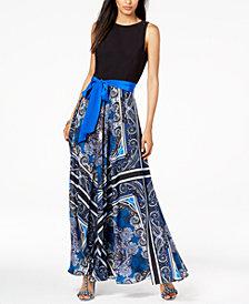 I.N.C. Petite Scarf-Print Maxi Dress, Created for Macy's