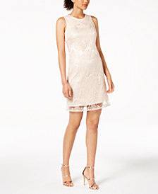 Taylor Sequin-Embroidered Mesh Dress