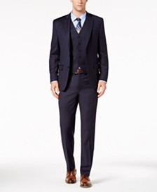 Lauren Ralph Lauren Men's Classic-Fit UltraFlex Stretch Navy Vested Suit