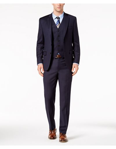 Lauren Ralph Lauren Classic-Fit UltraFlex Stretch Vested Men's Suit