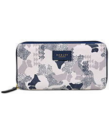 Radley London Data Dog Large Zip Around Matinee Wallet