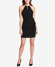 GUESS Keyhole Halter Dress