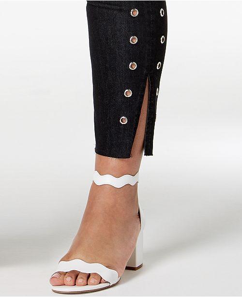 Hem Skinny Seven7 Jeans Size Ankle Trendy Black Plus Grommet TOxZHqA