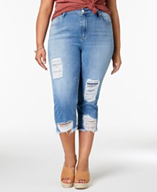 Seven7 Trendy Plus Size Ripped Jeans