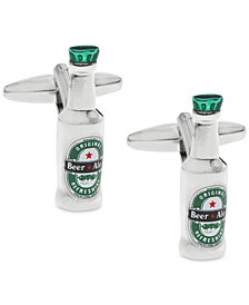 Sutton by Rhona Sutton Men's Silver-Tone Beer Bottle Cufflinks