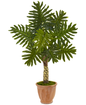 Nearly Natural 45 Monstera Artificial Tree in Terracotta Pot