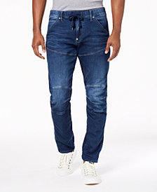 G-Star RAW Men's Tapered Fit Stretch Destructed Jeans, Created for Macy's