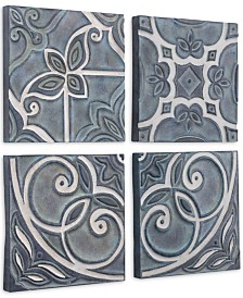 Zuo Tiles Wall Decor Blue, Set of 4
