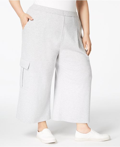 48c07d1bd1 ... 525 America Plus Size Cropped Cargo Sweatpants