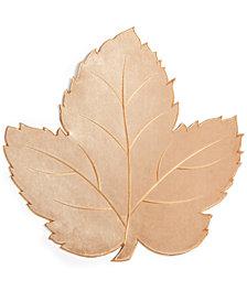 """Elrene Velvet Leaf Gold 16.5"""" x 16.5"""" Placemat"""