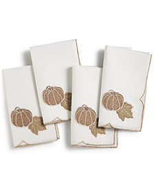 CLOSEOUT! Homewear Pumpkin Set of 4 Napkins