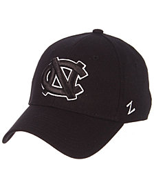 Zephyr North Carolina Tar Heels Black/White Stretch Cap